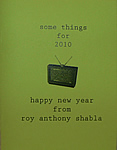 Chapbooks - some things for 2010- handmade book by Roy Anthony Shabla