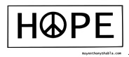 Hope For Peace - free poster
