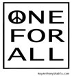 One Peace For All - free poster